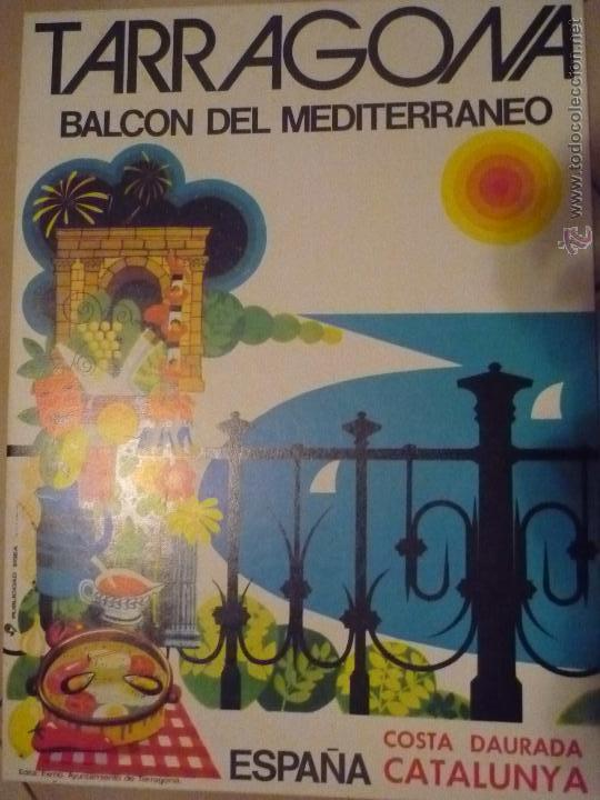 DISPLAY SOBREMESA CARTON DURO TARRAGONA BALCON DEL MEDITERRANEO- 31 X 22-BB (Coleccionismo - Carteles Gran Formato - Carteles Turismo)