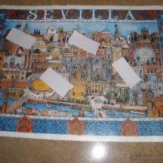 Carteles de Turismo: CARTEL DE SEVILLA AÑO 1992 PARA LA EXPO. MIDE 66 X 49,5 CM. Lote 48935772