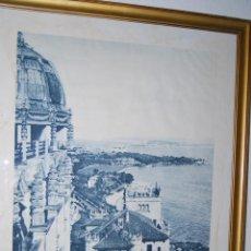 Carteles de Turismo: ANTIGUO CARTEL DE TURISMO - VISITAD SANTANDER - CANTABRIA - HUECOGRABADO ARTE BILBAO - AÑOS 30-40. Lote 48992558