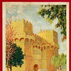Carteles de Turismo: PEQUEÑO CARTEL TURISMO , VALENCIA , TORRES DE SERRANOS , MORENO GIMENO , ORIGINAL . Lote 49978973