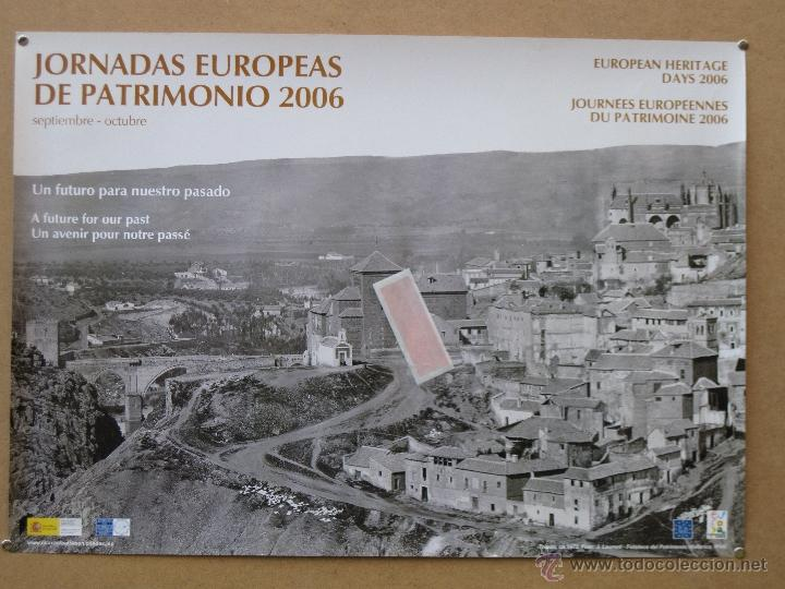 TOLEDO 1872 - CARTEL GRANDE DE LAS JORNADAS EUROPEAS DE PATRIMONIO.PERFECTO ESTADO. (Coleccionismo - Carteles Gran Formato - Carteles Turismo)