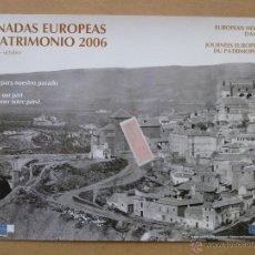 Carteles de Turismo: TOLEDO 1872 - CARTEL DE LAS JORNADAS EUROPEAS DE PATRIMONIO.PERFECTO ESTADO.. Lote 51729611
