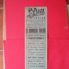 Carteles de Turismo: CARTEL PROGRAMA COMICO TAURINO -EL BOMBERO TORERO- ECIJA -1957. Lote 51955749