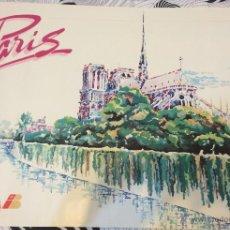 Carteles de Turismo: CARTEL TURÍSTICO DE PARÍS. PUBLICITARIO DE IBERIA LÍNEAS AÉREAS. AÑOS 80. GRAN TAMAÑO: 1 M X 70 CM.. Lote 52703982