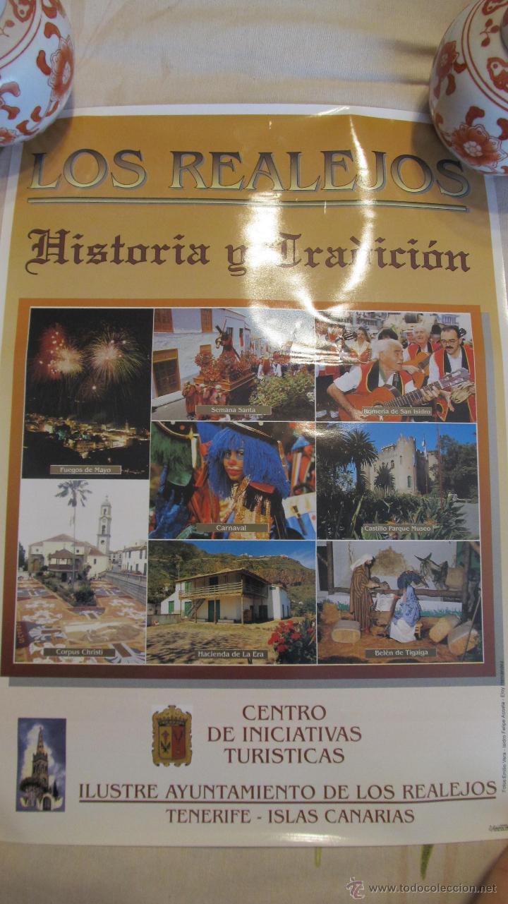 M69 CARTEL TURISTICO LOS REALEJOS HISTORIA Y TRADICION TENERIFE AÑOS 90 (Coleccionismo - Carteles Gran Formato - Carteles Turismo)