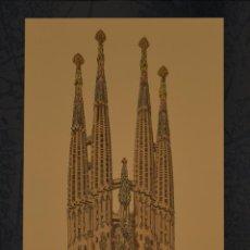 Carteles de Turismo: CARTEL GAUDI. SAGRADA FAMILIA (1882-1926). 48X28 CM. BARCELONA. Lote 52978780