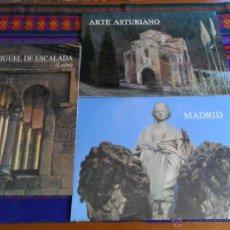 Carteles de Turismo: ARTE ASTURIANO, MADRID, SAN MIGUEL DE ESCALADA DE LEÓN. 31X43 CMS. EDILESA 1990. PRECINTADOS.. Lote 52997336