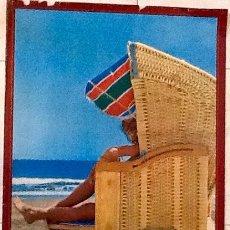 Carteles de Turismo: ISLAS CANARIAS. PLAYA DE S. AGUSTIN.AÑOS 60..ENVIO CERTIFICADO.INCLUIDO EN EL PRECIO.. Lote 53041916