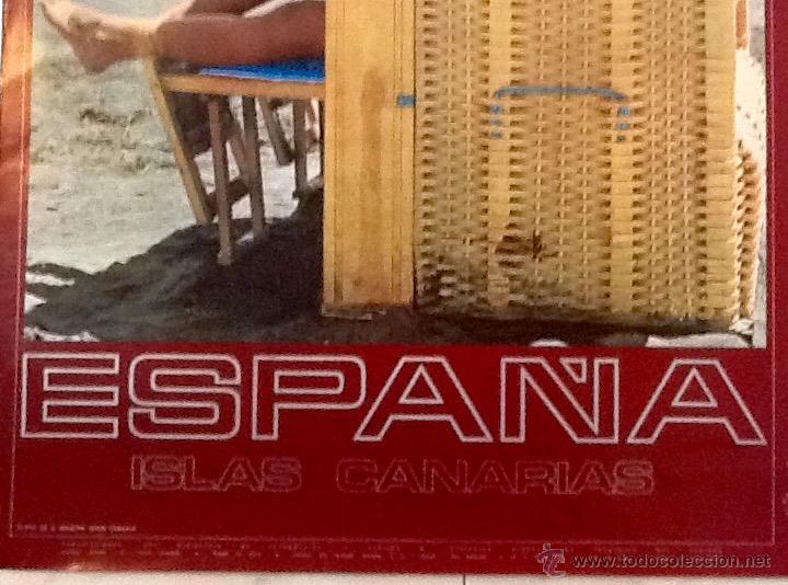Carteles de Turismo: ISLAS CANARIAS. PLAYA DE S. AGUSTIN.AÑOS 60..ENVIO CERTIFICADO.INCLUIDO EN EL PRECIO. - Foto 3 - 53041916