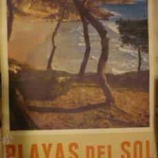 Carteles de Turismo: POSTER ANTIGUO PLAYAS DEL SOL TARRAGONA .-1 X 70 APROX.. Lote 53170723