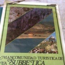 Carteles de Turismo: CARTEL PUBLICITARIO. MANCOMUNIDAD TURÍSTICA DE LA SUBBÉTICA CORDOBESA. AÑO 1989. 65 X 90 CM.. Lote 55573606