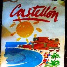 Carteles de Turismo: BONITO POSTER DE CASTELLON - COSTA DE AZAHAR - GENERALITAT VALENCIANA AÑOS 80. GRANDE. Lote 56622875