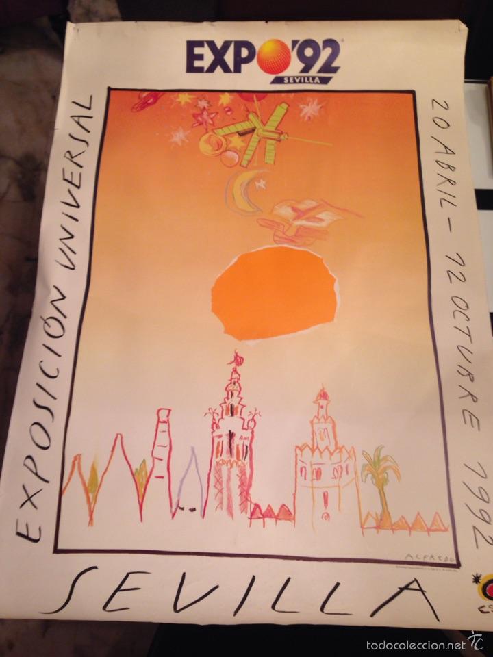 CARTEL EXPO 92 SEVILLA (Coleccionismo - Carteles Gran Formato - Carteles Turismo)
