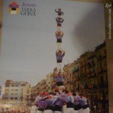 Carteles de Turismo: POSTER GRANDE TORRES HUMANAS-CASTELLS JOVE TARRAGONA.-PUBLICIDAD CAIXA TARRAGONA BB. Lote 56668738