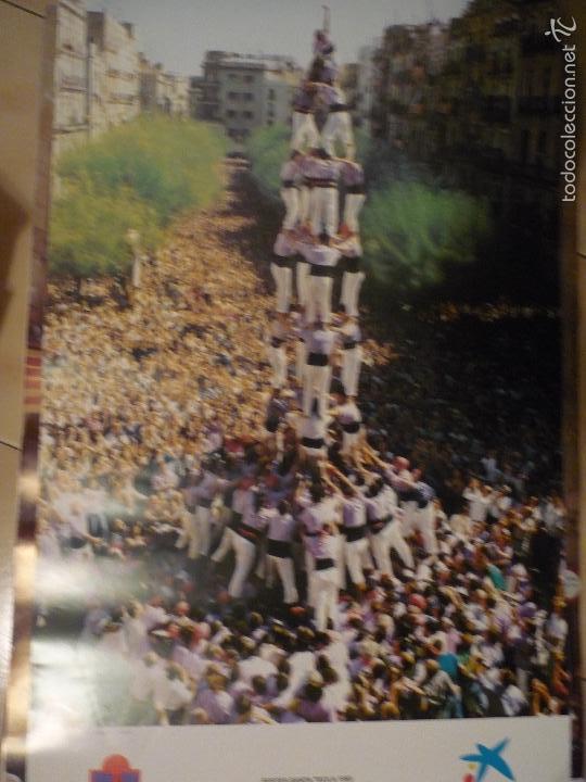 POSTER GRANDE TARRAGONA -TORRES HUMANAS FIESTAS STA.TECLA 1993-COLLA JOVE.- BB (Coleccionismo - Carteles Gran Formato - Carteles Turismo)