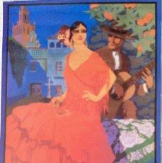Carteles de Turismo: REPRODUCCIÓN CARTEL SEVILLA FIESTAS DE PRIMAVERA 1927 DÍAZ-JARA. Lote 57680022