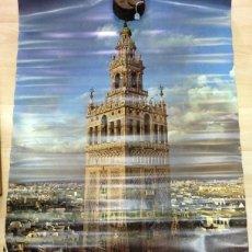 Carteles de Turismo: SEVILLA, ESPECTACULAR CARTEL VIII CENTENARIO DE LA GIRALDA,63X93 CMS. Lote 59880171