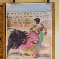 Carteles de Turismo: CARTEL PUBLICIDAD TURISMO ESPAÑA AÑOS 50 ANTONIO CASERO,TEMATICO FERIA TOROS ANDALUCIA . Lote 60243391