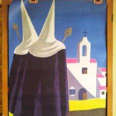 Carteles de Turismo: CARTEL PUBLICIDAD TURISMO ESPAÑA AÑOS 50 POR GUY GEORGET ,TEMATICO SEMANA SANTA ROCIO ANDALUCIA . Lote 60256139