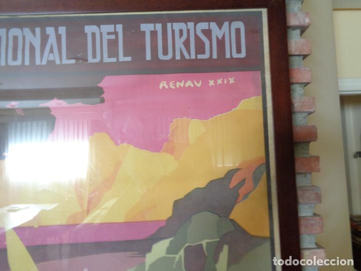 Carteles de Turismo: PNT.BALEARES.LA ISLA DE LAS MARAVILLAS. JOSE RENAU. AÑO 1929 - Foto 2 - 62254564