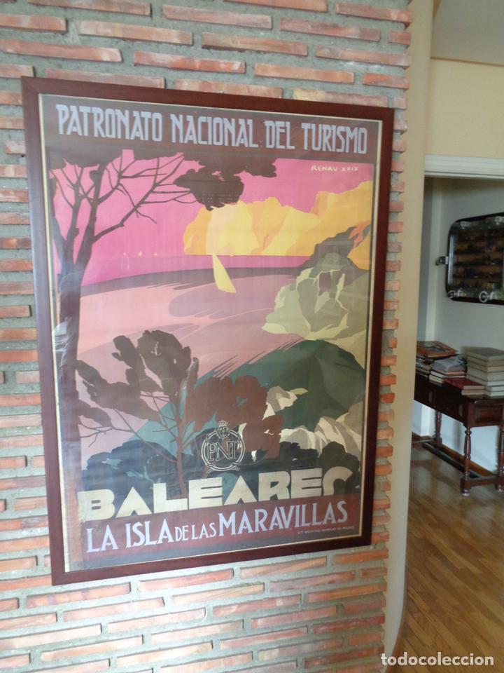 Carteles de Turismo: PNT.BALEARES.LA ISLA DE LAS MARAVILLAS. JOSE RENAU. AÑO 1929 - Foto 4 - 62254564