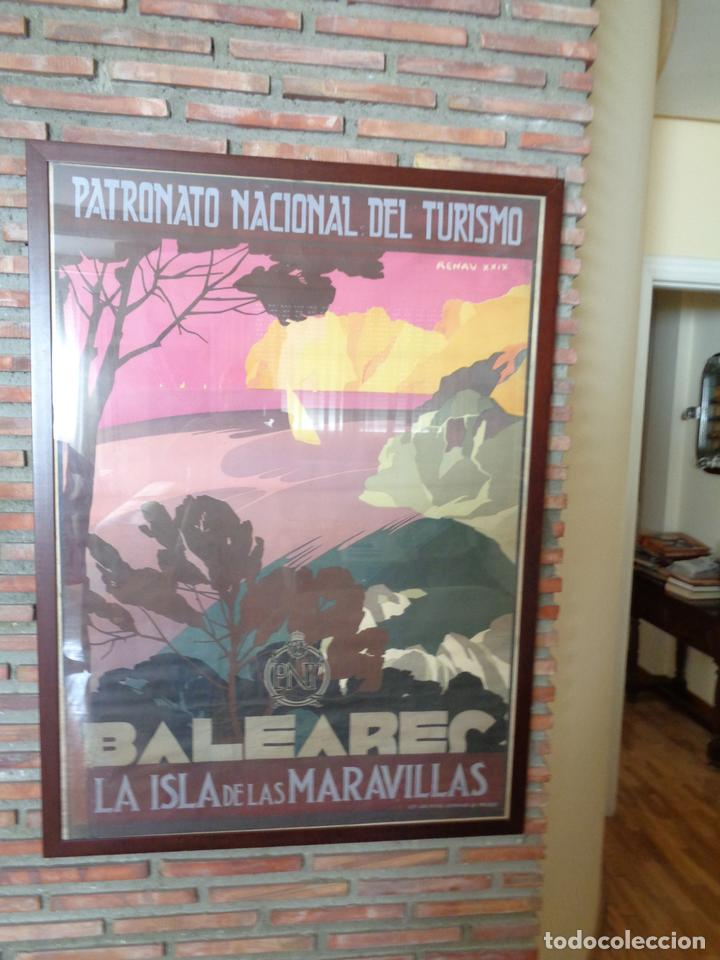 Carteles de Turismo: PNT.BALEARES.LA ISLA DE LAS MARAVILLAS. JOSE RENAU. AÑO 1929 - Foto 5 - 62254564