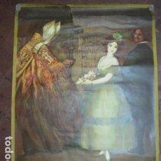 Carteles de Turismo: EXPOSICION INTERNACIONAL DE BARCELONA 1929-EL ARTE EN ESPAÑA - MED- 100X70 CM APROX.. Lote 62378508