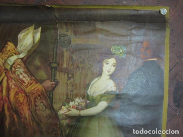 Carteles de Turismo: EXPOSICION INTERNACIONAL DE BARCELONA 1929-EL ARTE EN ESPAÑA - MED- 100X70 CM APROX. - Foto 3 - 62378508
