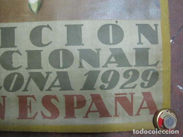Carteles de Turismo: EXPOSICION INTERNACIONAL DE BARCELONA 1929-EL ARTE EN ESPAÑA - MED- 100X70 CM APROX. - Foto 6 - 62378508