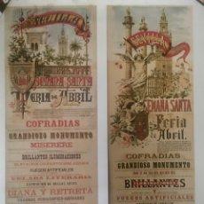 Carteles de Turismo: LÁMINA SEMANA SANTA FERIA DE ABRIL SEVILLA. Lote 63361092