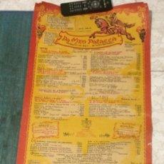 Carteles de Turismo: MENÚ DE RESTAURANTE DA MEO PATACCA, ROMA. 45 CM X 1 M. EN IDIOMA ITALIANO. AÑOS 60.. Lote 64009943
