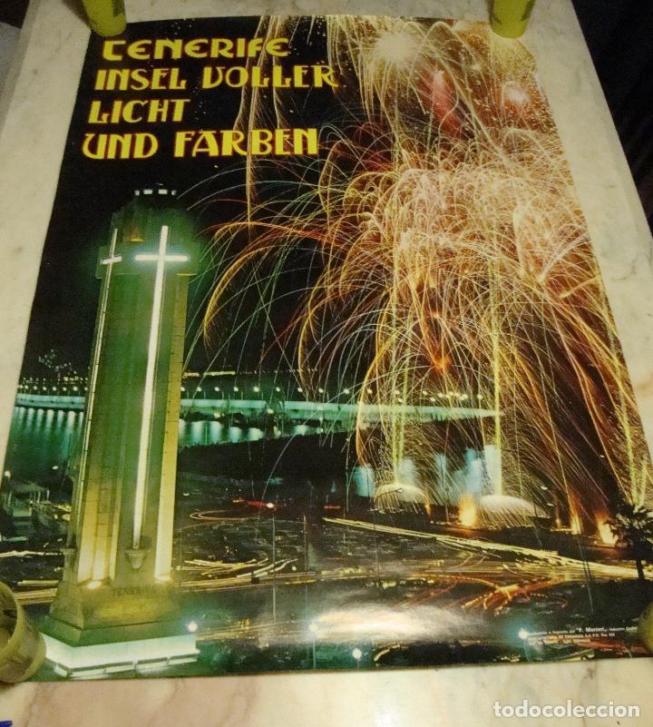 DIFICIL CARTEL ESPAÑA INFORMACION Y TURISMO TENERIFE FIESTAS1975 (Coleccionismo - Carteles Gran Formato - Carteles Turismo)