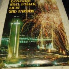 Carteles de Turismo: DIFICIL CARTEL ESPAÑA INFORMACION Y TURISMO TENERIFE FIESTAS1975. Lote 69860645