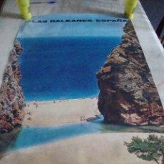 Carteles de Turismo: DIFICIL CARTEL ESPAÑA INFORMACION Y TURISMO MALLORCA LA CALOBRA. Lote 71698755