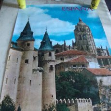 Carteles de Turismo: DIFICIL CARTEL ESPAÑA INFORMACION Y TURISMO SEGOVIA. Lote 161717988