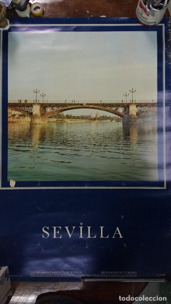 SEVILLA PUENTE DE TRIANA 1974 ANTES DE SU REFORMA (Coleccionismo - Carteles Gran Formato - Carteles Turismo)