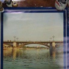 Carteles de Turismo: SEVILLA PUENTE DE TRIANA 1974 ANTES DE SU REFORMA. Lote 73543015
