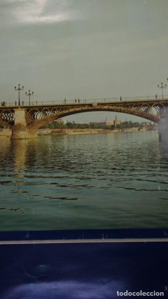 Carteles de Turismo: Sevilla puente de Triana 1974 antes de su reforma - Foto 2 - 73543015