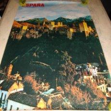 Carteles de Turismo: DIFICIL CARTEL ESPAÑA INFORMACION Y TURISMO LA ALHAMBRA GRANADA. Lote 78165257