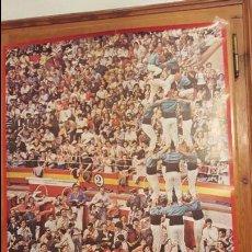 Carteles de Turismo: CARTEL,POSTER TURISMO CASTELLERS TARRAGONA,BARCELONA AÑO 1973 VER FOTOS DETALLADAS. Lote 78708205