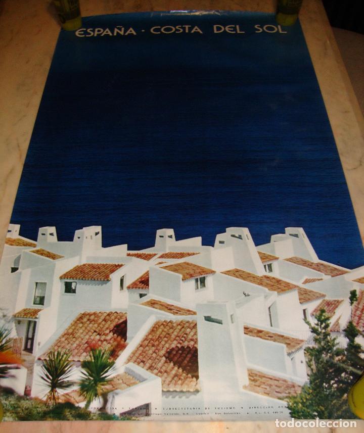 DIFICIL CARTEL ESPAÑA INFORMACION Y TURISMO COSTA DEL SOL (Coleccionismo - Carteles Gran Formato - Carteles Turismo)