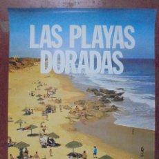 Carteles de Turismo: CARTEL. LAS PLAYAS DORADAS. CADIZ. FARO DE DOS MUNDOS. 70 X 50 CM. Lote 83938628