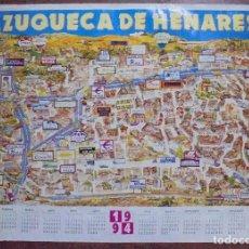 Carteles de Turismo: CARTEL. CALENDARIO AZUQUECA DE HENARES. 1994. 65 X 99 CM. Lote 83990376