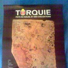 Carteles de Turismo: PLANO DE PIRI REIS, PUBLICITARIO DE TURISMO EN ESTAMBUL, TURQUÍA. 40 X 60 CM. EN IDIOMA FRANCÉS.. Lote 85737604