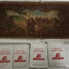 Carteles de Turismo: 14-ANTIGUA CARPETA PUBLICITARIA IBERIA + TOALLITAS. Lote 86761868