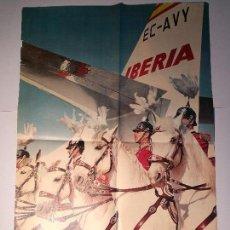 Carteles de Turismo: CARTEL DE BARCELONA CON IBERIA, MEDIDAS 100CM.X70CM.. Lote 87584964