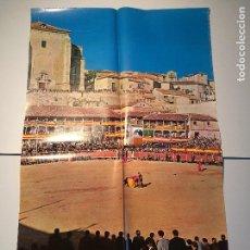 Carteles de Turismo: TOROS EN CHINCHON, MADRID. CARTEL DE LOS AÑOS 60, MEDIDAS 100 CM.X 68 CM.. Lote 87585384