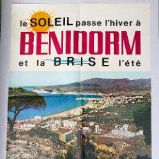 Carteles de Turismo: BENIDORM,CARTEL DE TURISMO 1964. MEDIDAS 88 CM.X62 CM.. Lote 87588500