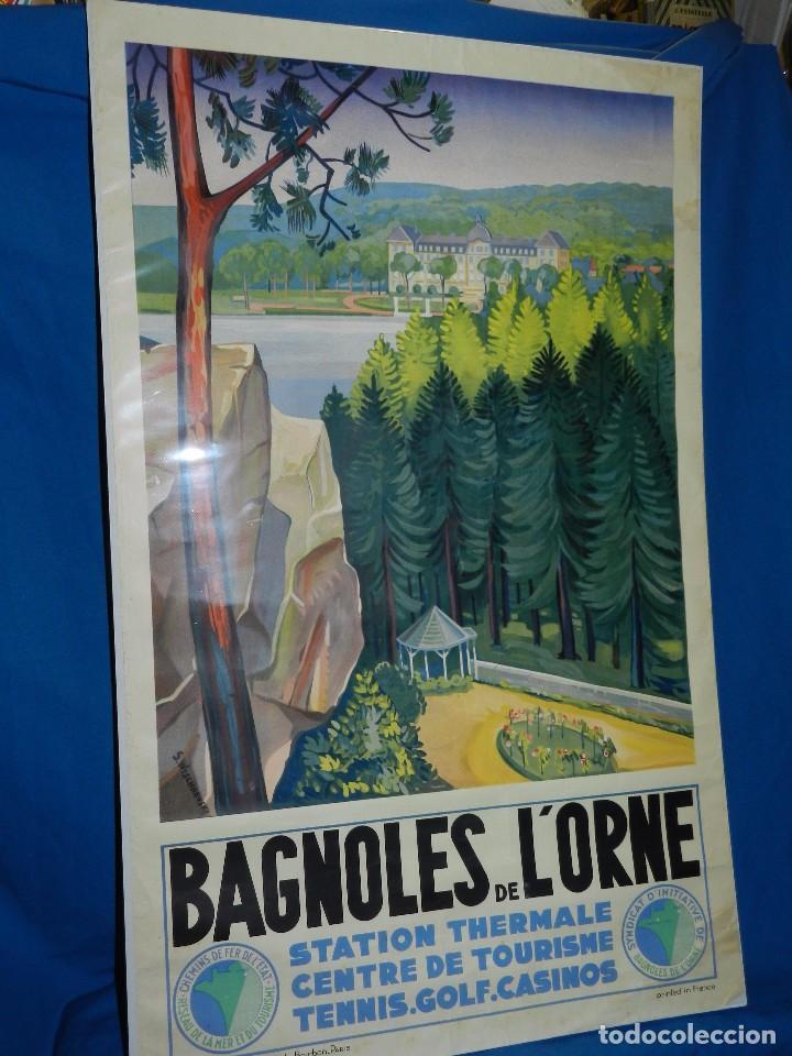 (M) CARTEL BAGNOLES DE L'ORNE STATION THERMALE CENTRE DE TOURISME TENNIS, GOLF, CASINOS (Coleccionismo - Carteles Gran Formato - Carteles Turismo)
