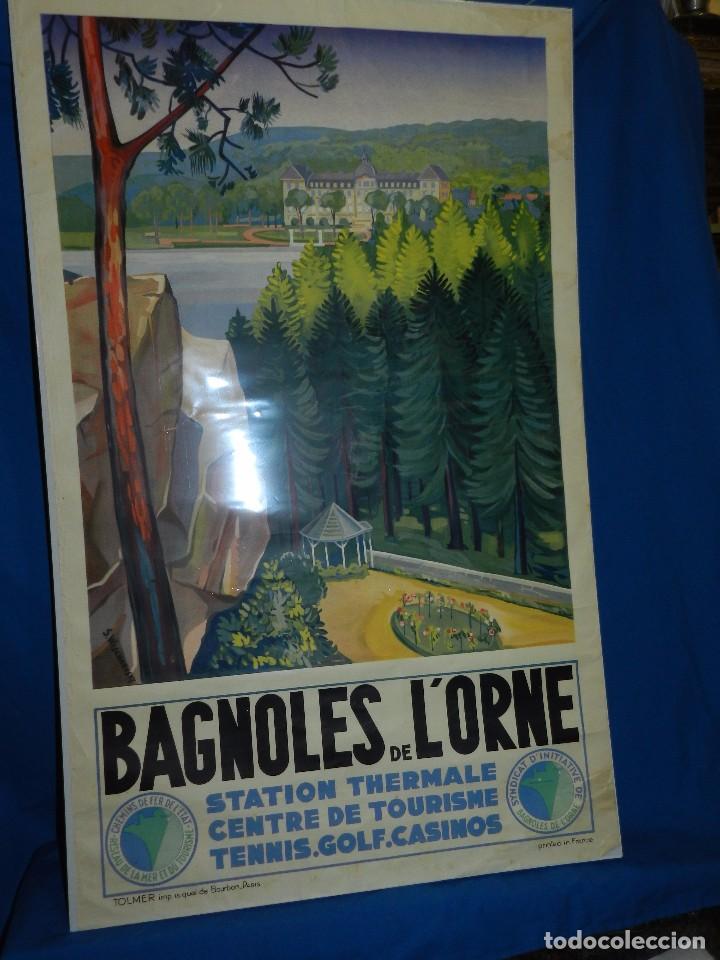 Carteles de Turismo: (M) CARTEL BAGNOLES DE LORNE STATION THERMALE CENTRE DE TOURISME TENNIS, GOLF, CASINOS - Foto 2 - 91076010